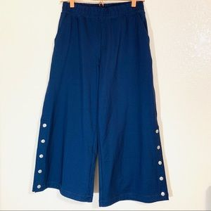 Gaucho side button pants